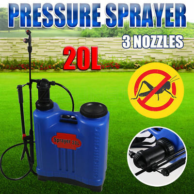 20L Pressure Backpack ater Sprayer Spray Garden Pump Chemical Weed Killer New