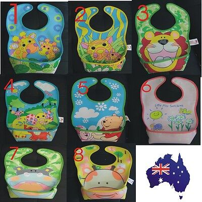 Waterproof 3D baby bibs /cute infant toddler kids boy girl food catcher