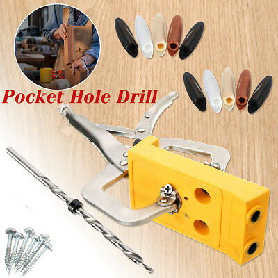 Set Of Woodworking Pocket Hole Drill Guide Jig Kit Hole Locator Jig Tool