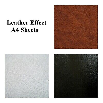 Leather Effect A4 Sheet Self Adhesive StickyBack Vinyl Craft Faux Leather DC FIX