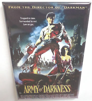 """Army of Darkness Campbell Style 1 Movie Poster 2""""x3"""" Refrigerator Locker MAGNET"""