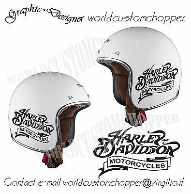 1 ADESIV0 STICKERS REPLICA HARLEY DAVIDSON MOTORCYCLES DA CASCO MOTO Cod.AS11