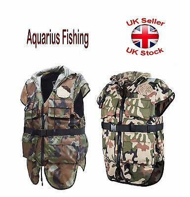 Aquarius Fishing PFD Buoyancy Aid Life Jacket Vest 45N-50N Camo