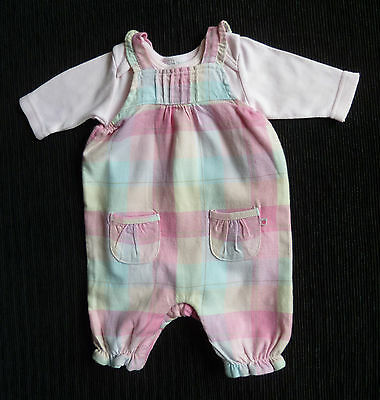 Baby clothes GIRL premature/tiny<7.5ls/3.4k Mothercare dungarees outfit bodysuit