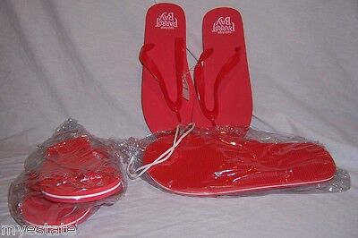 New 2 Pairs Red Flip Flops CAPTAIN MORGAN PARROT BAY You Pick Size