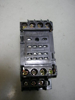 "Box Of 20 ..relay  My4N  ""din Rail Mount Bases""   14 Pin"