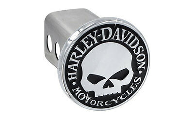 Harley-Davidson Trailer Tow Hitch Cover Plug Featuring The Willie G Skull