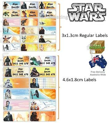 Star Wars Vinyl Personalised Name Label Sticker school book boy tag custom child