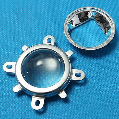 New 44mm Adjustable Lens+Reflector Collimator+Fixed Bracket for 20W-100W LED