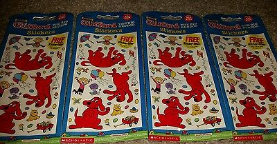 Clifford the dog easter birthday party Stickers 4 sheets 2002 Mello smello H89