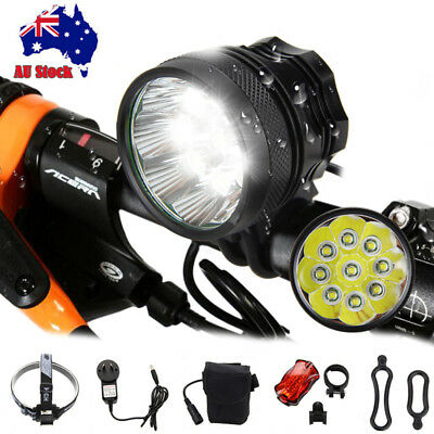 25000Lm 9x XM-L T6 LED Head Bicycle Lamp Bike Light MTB Headlamp Torch 6*18650