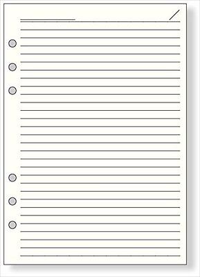 Raymay Davinci A5 6-hole notepad refill 6.5mm ruled paper 100 Sht. DAR459