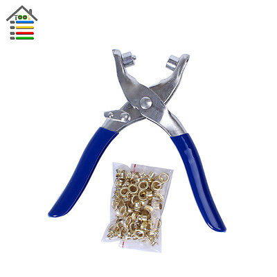 50 Eyelets Pliers  Press Eyelet Plier Punch Machine Grommet For Colthes Leather