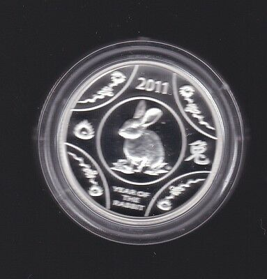 2011 $1 YEAR OF THE RABBIT LUNAR SERIES Silver Proof Coin Australia