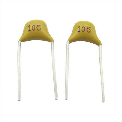 100 Pcs 1uF 5.08mm Lead Spacing Monolithic Ceramic Capacitor Y3E4
