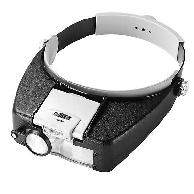 Headband Headset LED Head Lamp Light Jeweler Magnifier Magnifying Glass Loupe