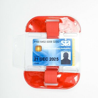High Visibility Security Arm Band ID Holder - RED