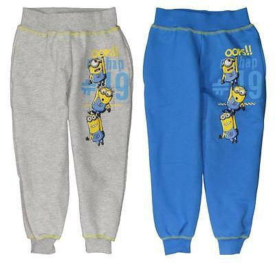 Boys Despicable Me Minions Fleece Lined Jogger Track Pant  Bottom Age 3-9 Yrs