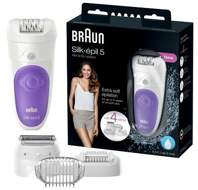 Braun Silk Epil 5-541 Wet and Dry Cordless Epilator with 4 extra Heads