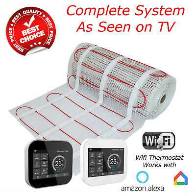 Electric Underfloor Heating mat kit 200w per m2 All Sizes in this Listing (GLS)