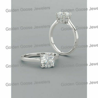 Semi Mount Setting 10K White Gold Round Diamonds Engagement Solitaire Mounting