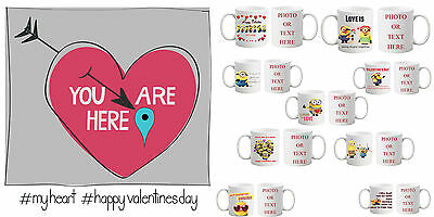 Personalised Valentines Minion Day Love Gift Printing Photo Text COLOURED Mug