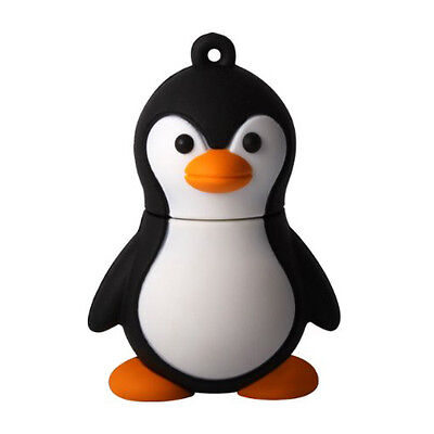 16GB Baby Penguin USB 2.0 Flash Drive Data Memory Stick Device lack&White MJ