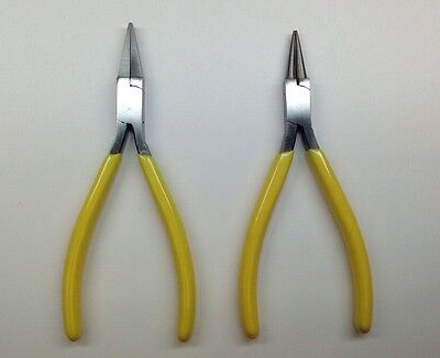 Beading/Jewelers 2-pack Stainless Pliers - 1 Flat Nose & 1 Round Nose