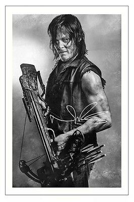 Norman Reedus The Walking Dead Season 6 Signed Photo Print Daryl Dixon