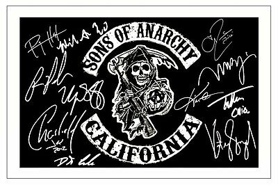 Sons Of Anarchy Cast Multi Signed Photo Print Autograph Soa Charlie Hunnam Etc