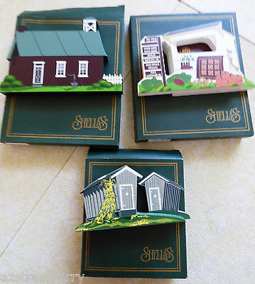 Lot of 3 Shelia's Historic Collectible Houses new with boxes