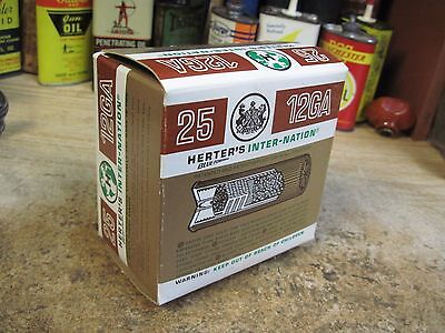HERTER'S INTER NATION LOADS empty 12 GA 2 3/4 IN shotgun shell box ORIGINAL shot