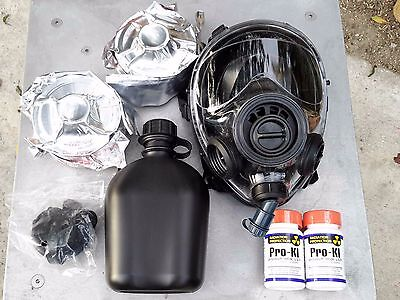 SGE 400/3 Infinity Gas Mask w/Drink Port & TWO CBRN APPROVED Filters exp 06/2024