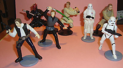 Mixed Lot of 7 STAR WARS 3 inch Figures 1997-1999 Applause Lucas Film LTD