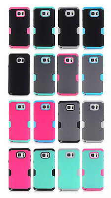 Rugged Hybrid Rubber Hard Cover Case For Samsung Note 5 S6Edge+/Plus