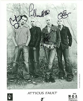 Atticus Fault autographed hand signed MCA publicity photo 4 members