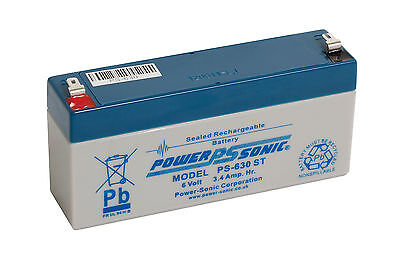 Staab UB634, 6 volt Sealed lead acid Replacement Battery