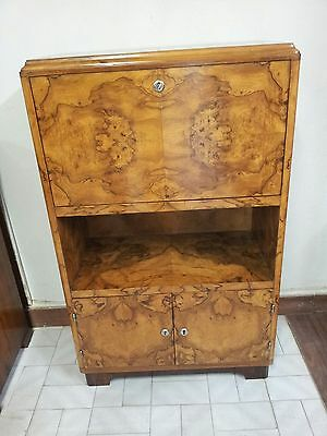 Rare Original Italian Art Deco Little Secretaire From 1930 - 40