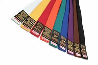 Playwell Plain Coloured Grading Belts 280CM Karate Judo Taekwondo Martial Arts