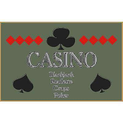 Poker Room art decor Wood Poster Signs : Casino