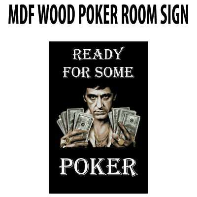 Poker Room art decor Wood Poster Signs : Ready For Some Poker!  Wood Sign