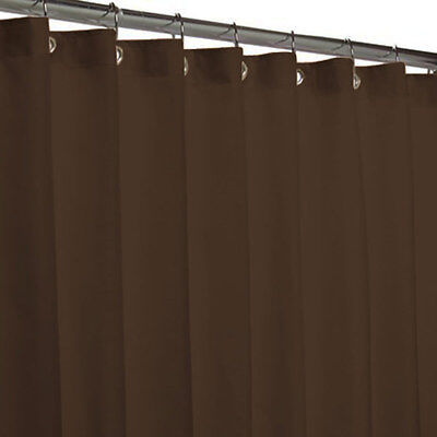 Popular Bath Hotel Fabric Shower Curtain Or Liner, Chocolate, 70x72