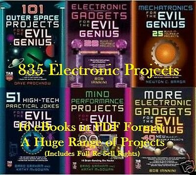 CD Evil Genius Project Collection - 16 eBooks (Resell Rights)