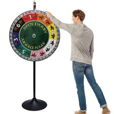 36 inch Spin Derby Prize Wheel with Extension Base & Layout