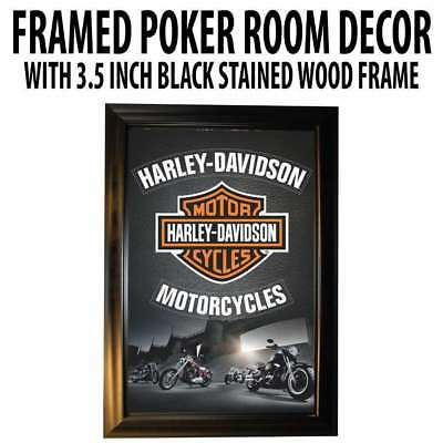 Poker Room art decor Framed Art  : Harley Davidson Motorcycles
