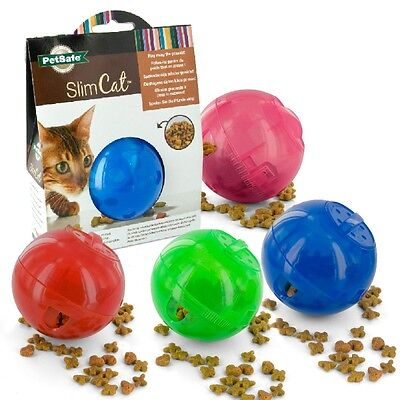 Cat Kitten Slimcat healthy interactive treat ball slow food dispenser toy