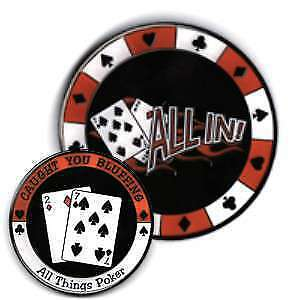 Poker Protector Card Guard Cover : 7- 2 Off Suit All In