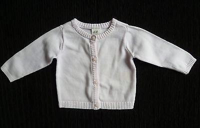 Baby clothes GIRL 0-3m H&M pink lightweight cotton cardigan COMBINE POST C SHOP!