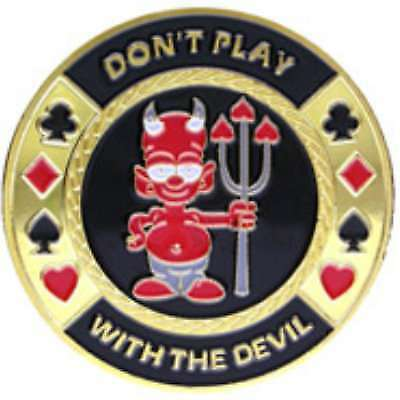 Poker Protector Card Guard Cover in Capsule :  Don't Play with the Devil