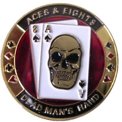 Poker Protector Card Guard Cover in Capsule :  Dead Man's Hand Aces & Eights 1